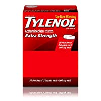 Tylenol Extra Strength Caplets with Acetaminophen, Pain Reliever & Fever Reducer, 2-Pack of 50 ct