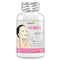 NuBest White - Natural Skin Whitening Anti-Aging Formula with Glutathione, Milk Thistle Extract, L-Cysteine, Precious Herbs and Vitamins for Men & Women | Liver Health GSH Detox | All Natural Formula