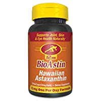 BioAstin Hawaiian Astaxanthin 12mg, 50 Count - Hawaiian Grown Premium Antioxidant - Supports Muscle Recovery from Exercise – Eye & Joint Supplements for Men & Women