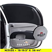 M/Car Window Shade Protection for Baby. Backseat Sun Shades Cover Full Contoured Windows Up to 19.5