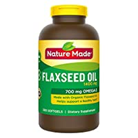Nature Made Organic Flaxseed Oil 1,400 mg - Omega-3-6-9 for Heart Health - 300 Softgels(Pack of 2) by Nature Made