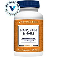 The Vitamin Shoppe Hair, Skin and Nails, with 400MCG of Biotin and Other Essential Vitamins, Nutrient Metabolism Support for Healthy Vibrant Hair, Healthy Skin Strong Nails (120 Tablets)