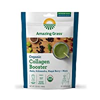 Amazing Grass Vegan Collagen Booster: Plant based Collagen Support Smoothie Booster with Amla, Schisandra & Maqui Berry, 30 Servings