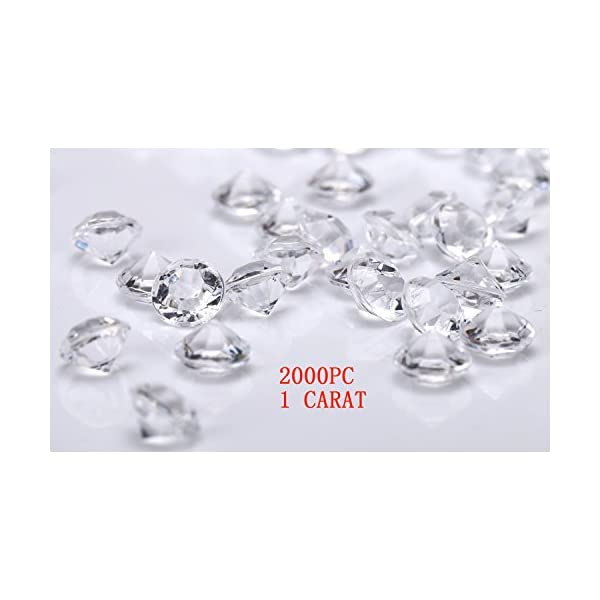 Basic pack Vase Fillers or Wedding Bridal Shower Party Table Confetti Decorations Pkg of 24 Clear 25 Carat Acrylic Diamonds with Super Big Bling