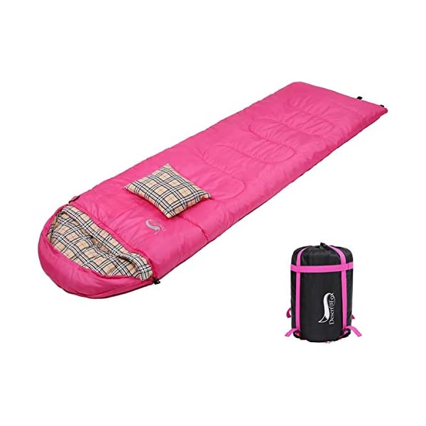 Semoo Waterproof 3 Season Camping Envelope Sleeping Bag for Adults /& Children with Compression Bag