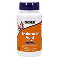 NOW Supplements, Hyaluronic Acid 50 mg with MSM, Joint Support*, 60 Veg Capsules
