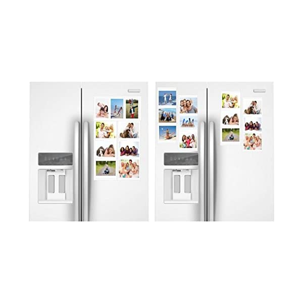 """Arrange Your Way Each Frame Holds 3 Photos or any Magnetic Surface School Locker 4/"""" x 6/"""" Photos White Magnetic Picture Frames Collage for Refrigerator 4-Pack ezProducts Holds and Protects 12"""