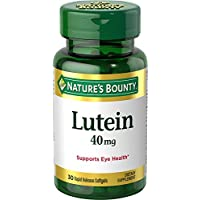 Nature's Bounty Lutein Pills, Eye Health Supplements and Vitamins, Support Vision Health, 40 mg, 30 Softgels