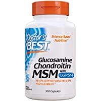 Doctor's Best Glucosamine Chondroitin Msm with optimsm, Supports Healthy Joint Structure, Function & Comfort, Non-GMO, Gluten Free, Soy Free, 360 caps