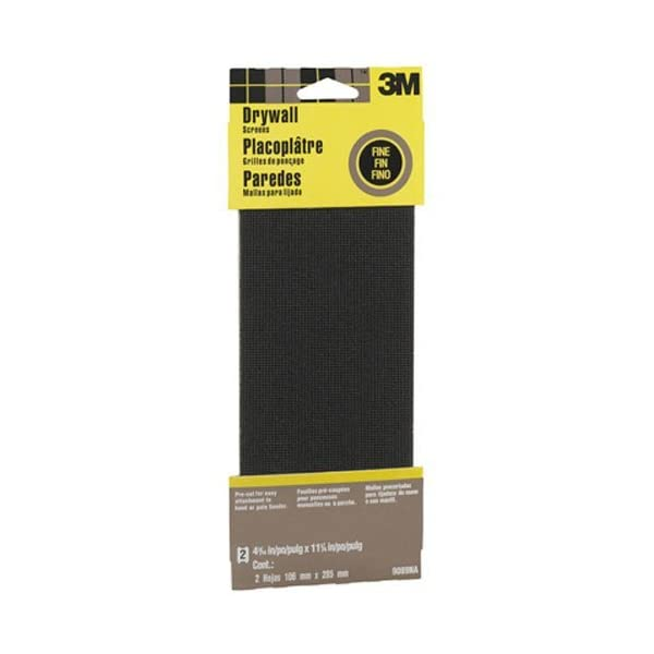 25-Pack 3M 99432NA Drywall Sanding Sheet 100C-Grit 4 3//16 by 11 1//4-Inch