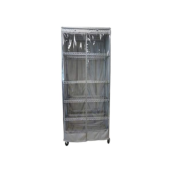 Cover only Formosa Covers Storage Shelving Unit Cover All See Through PVC fits Racks 60 Wx24 Dx72 H All Clear PVC