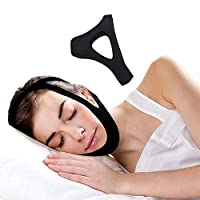 ADVENTURIST - Anti Snoring Chin Strap - Most Effective Sleep Aid - Snore Stopper Solution Device - Easily Adjust to Fit Men or Women - with or Without CPAP BIPAP