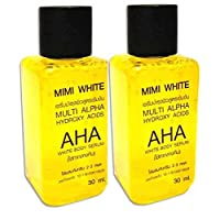 MiMi White AHA Serum - 30 ml Whitening Skin Bleaching, Remove Dark Spots (2 Pcs)