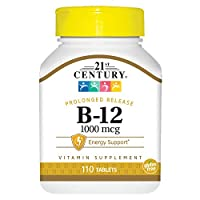21st Century B 12 1000 mcg Prolonged Release Tablets, 110 Count