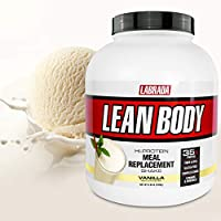 Lean Body All-in-One Vanilla Meal Replacement Shake. 35g Protein, Whey Blend, 7g Healthy Fats & Fibre, 22 Vitamins and Minerals, No Artificial Colours, Gluten Free, (20 MRP Packets) LABRADA