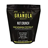 Granola Bakery - Keto Candied Macadamia Nuts - 2g Net Carb, 10.6Oz Bag - Paleo Low Carb Fat Bomb Nut Snack - Roasted Lightly Salted, Diabetic Friendly, Low Carb Dessert