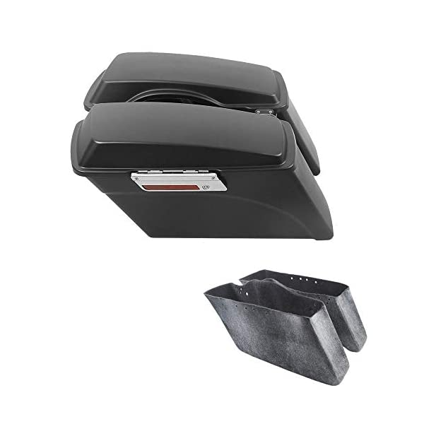 ultra XMT-MOTO Saddlebags Lid Top Rail Guard fits for Harley Davidson all Touring road glide road king electra glide Models 1994-2013 Black street glide