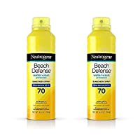 Beach Defense Body Spray Sunscreen with Broad Spectrum SPF 70, 6.5 oz (2 Pack)