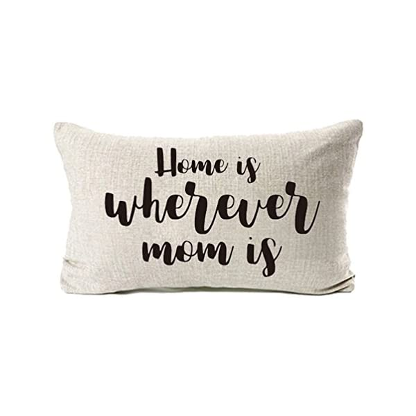 MFGNEH Cotton Linen Home Decorative A Mothers Love will Never End,It is There from Beginning to End Throw Pillow Cover Cushion Cover 18 x 18, Mom Gifts