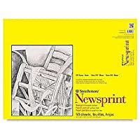 Strathmore Smooth Newsprint Paper Pad 18inX24in-50 Sheets