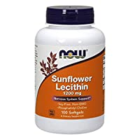 Now Foods, Sunflower Lecithin 1200mg Non-GMO, 100 Soft Gels