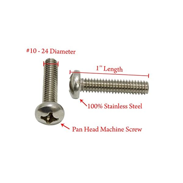 #6-32 X 1-1//2 Stainless Phillips Oval Head Machine Screw, 18-8 304 Stainless Steel by Bolt Dropper 100 pc