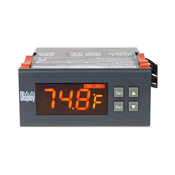 Temperature Controller Thermostat Thermometer BBQ Grill Smoker Oven Stove 30Amp