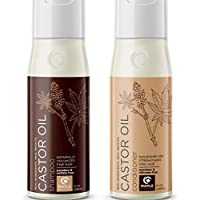 Pure Castor Oil Shampoo and Conditioner – Jamaican Black Castor Oil for Hair Growth – Sulfate Free Thickening Shampoo for Fine Hair – Curly Hair Conditioner – Hair Regrowth with Biotin – 10 oz Set