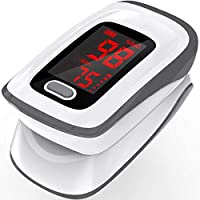 Pulse Oximeter,Pulse Oximeter Fingertip (Oximetro), Blood Oxygen Saturation Monitor, Heart Rate Monitor, Portable Pulse Oximeter with Lanyard and Batteries