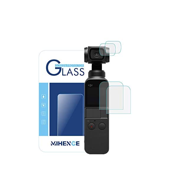 9H Anti-Scratch Glass Protector for DJI Osmo Pocket Screen Protection Mwoot 4 Pieces Tempered Glass Screen Protector Compatible DJI Osmo Pocket