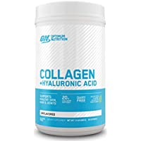 Collagen Peptides Powder By Optimum Nutrition, 20g Hydrolyzed Collagen with Hyaluronic Acid & Vitamin C, Unflavored, 28 Servings, Supports Healthy Skin, Hair & Joints