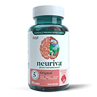 Nootropic Brain Supplement - Memory, Focus, Concentration, Accuracy, Learning - Neuriva Original Gummies (50 count bottle), Strawberry Flavor
