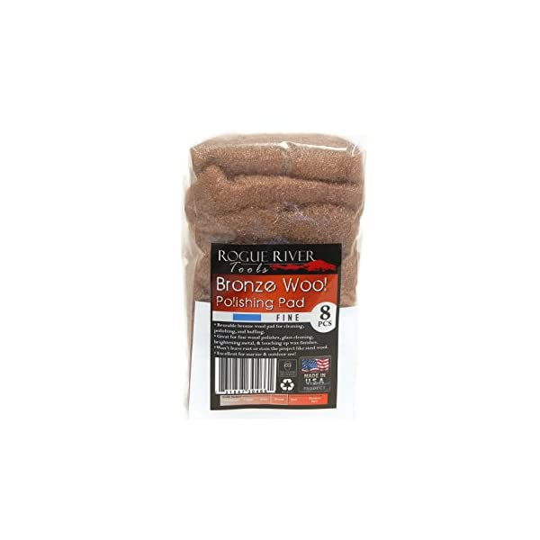8 Medium Rogue River Tools Bronze Wool Pads