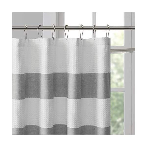 Shower Curtains Madison Park Spa Waffle Shower Curtain Pieced ...