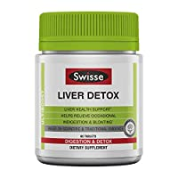 Swisse Ultiboost Liver Detox | Supports Liver Health & Function | Provides Relief for Indigestion & Bloating | Milk Thistle, Artichoke & Turmeric| 60 Tablets