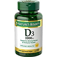 Vitamin D by Nature's Bounty, Supports Immune and Bone Health, 1000IU Vitamin D3, 350 Softgels