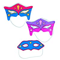 Includes 6 Masquerade Masks to Make and Decorate Serabeena Make Your Own Mask Kit A Great Craft Kit for Kids Parties