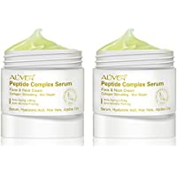 Anti-Aging Cream 2 pcs Peptide Wrinkle Cream,Complex Cream, Anti Wrinkle Serum,Collagen Peptides For Skin and Neck Moisturizer Cream Firming, Tightening, Fights the Appearance of Wrinkles, Fine Lines
