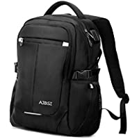 Laptop Backpack, AIBSI Anti Theft Business Backpack for Women & Men, Slim Durable Travel Computer Bag, Waterproof College School Bookbag with USB Charging Port Fits 15.6 Inch Laptop Notebook -Black