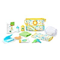 Melissa & Doug Mine to Love Travel Time Play Set for Dolls with Diaper Bag, Bottle, Sunscreen, More (17 pieces)