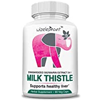 Milk Thistle - Max Strength 24x1 Seed Extract - 400mg per Veg Cap - 80% Silymarin Flavanoids - for Liver Health and Detox - Powerful Antioxidant - 90-Day Supply