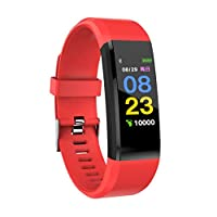 Sizet ID115 Plus Fitness Tracker, Bluetooth Smart Watch - Pedometer, Heart Rate Monitor, IP67 Waterproof Smart Band for Kids and Adults