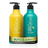 Uniqkka Promise Anti-Hair Loss Shampoo & Conditioner Set - Paraben & Sulfate Free Hair Fall Control Formula - Healthy Scalp and Full Hair for Men and Women