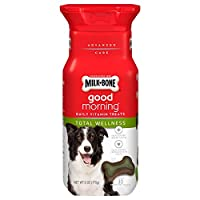 Milk-Bone Good Morning Daily Vitamin Dog Treats for Total Wellness, 6 Ounces (Pack of 4)