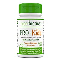 PRO-Kids: Children's Probiotics - 60 Tiny, Sugar Free, Once Daily, Time Release Pearls - 15x More Effective Than Capsules - Recommended with Vitamins - for Kids Ages 3 and Up - Very Easy to Swallow