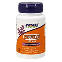 NOW Supplements, 7-Keto (DHEA Acetate-7-one) 100 mg, Weight Management*, 30 Veg Capsules