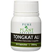 Pure Plant Extract #1 Brand 30 Caps Premium Quality TA:200 Malaysian Tongkat Ali Pure 1.200 Extract for Boosting Muscle Power and Improved Male Functions