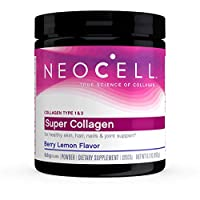 NeoCell Super Collagen Powder, 6,600mg Types 1 & 3 Grass-Fed Collagen, Paleo Friendly, Gluten Free, Soy Free, Berry Lemon Flavor - 6.74oz (Package May Vary)