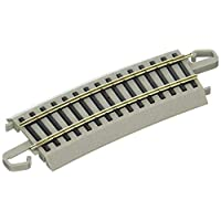 """Bachmann Trains - Snap-Fit E-Z TRACK HALF SECTION 22"""" RADIUS CURVED (4/card) - NICKEL SILVER Rail With Gray Roadbed - HO Scale"""
