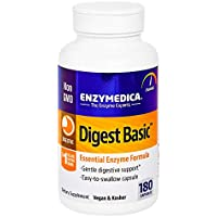 Enzymedica, Digest Basic, 180 Capsules, Dietary Supplement to Support Digestive Relief, Vegan, Gluten Free, Non-GMO, 180 Servings (FFP)
